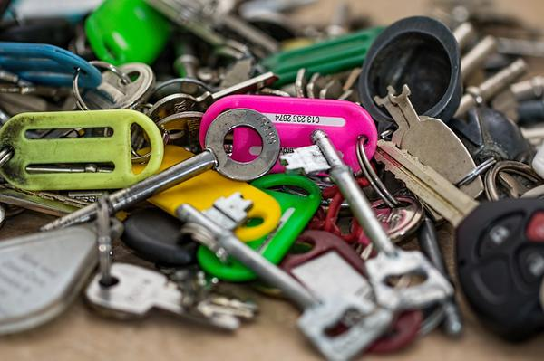 szafka z kodem na klucze